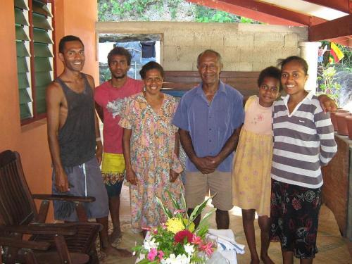 A helyi törzsfőnök és családja