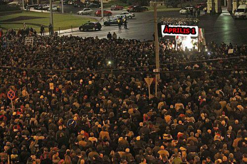 A tüntetés  (fotó: Sajtpress)